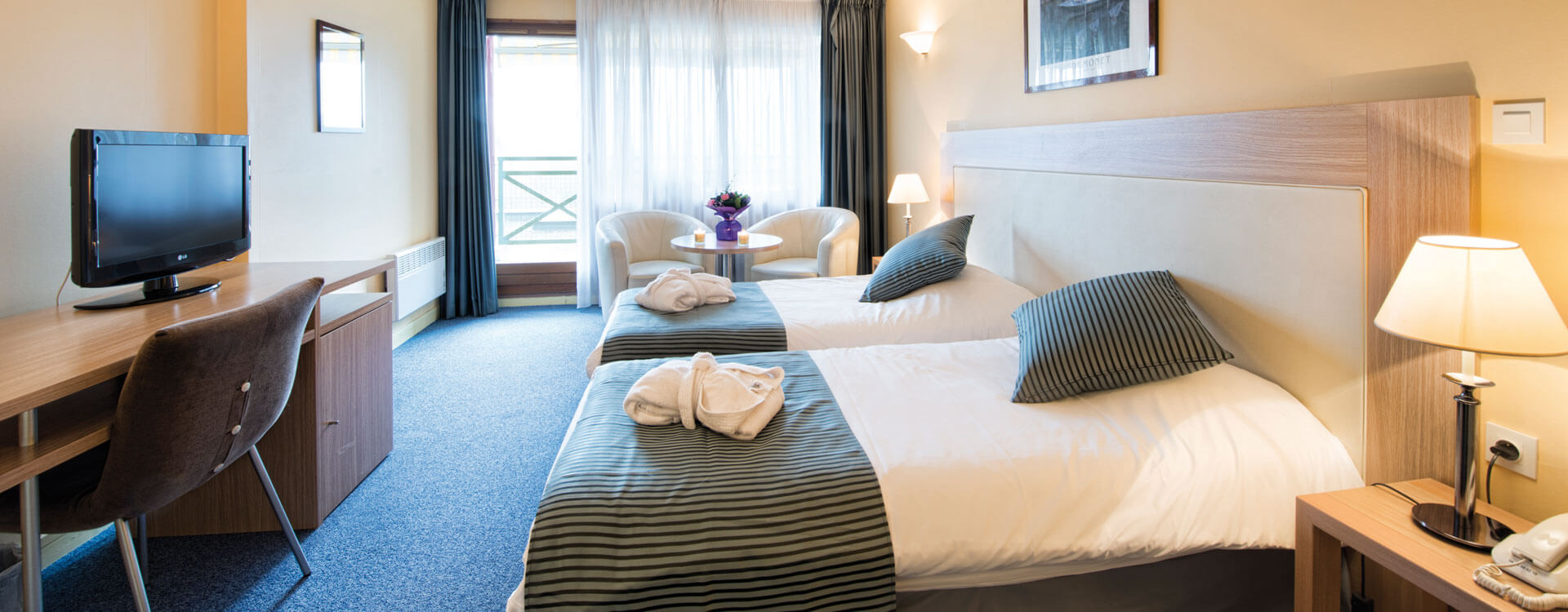 Chambre familiale - Hôtel & spa*** La Villa Marlioz à Aix-les-Bains