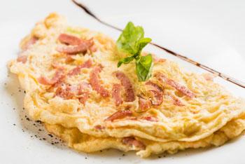 omelette savoyarde - specialite aix les bains