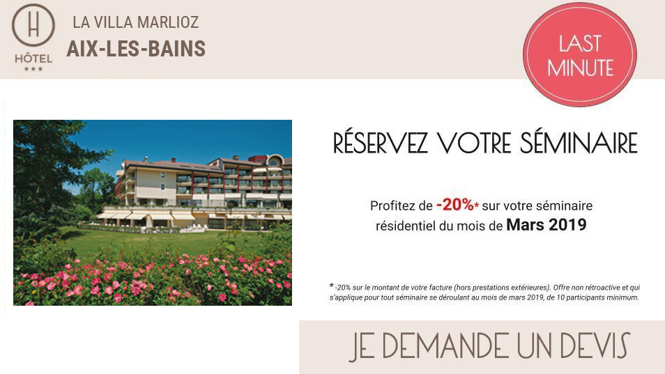 offre seminaire mars